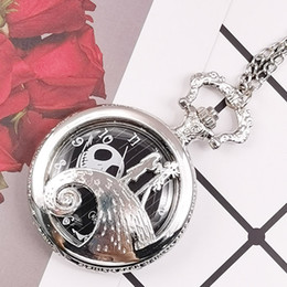 unique watches Australia - Unique Pocket Watch Vintage Night Mare Design Shilver Quartz Pocket Watches for Men Women Reloj De Bolsillo Clock GifTD2048
