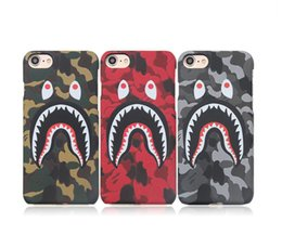 Camouflage Iphone Hard Case Australia - 3D Shark Cartoon Phone Case for iphone X XR XS MAX iphone 8 7 6 6S plus hard PC Camouflage Phone case