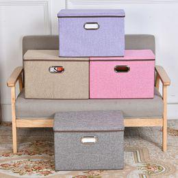 $enCountryForm.capitalKeyWord NZ - Folding Cotton Linen Fabric Closet Cubes Bins Organizer Kid Toy Box Offices For Home Storage Organization J190713