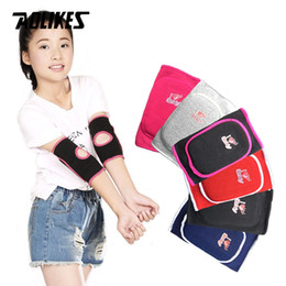 Elbow Supports Children Australia - AOLIKES 1 Pair Kids Children Breathable Sports Elbow Pads Support for Outdoor Roller-skating Dancing Baketball Football #146807