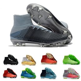 China CR7 Mercurial Superfly FG Soccer Shoes For Men Football Boots Magista Obra 2 Youth Soccer Cleats Cristiano Juventus Ronaldo cheap youth boots suppliers