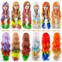 costume wigs women Australia - Women Cosplay Wig Gradient Fashion Long Curly Hair Cosplay Halloween Costume Accessories Female Princess Lolita Colorful Wig