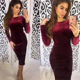 $enCountryForm.capitalKeyWord NZ - Cross-border 2009 Foreign Trade Fall and Winter New Amazon Blockbuster Long-sleeved Women's Dresses with Bottom Pack and Hip Dresses