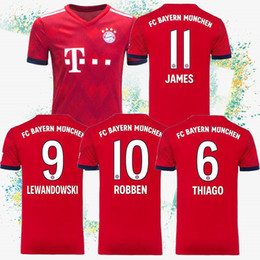 Cheap soCCer jerseys online shopping - 18 Thailand Bayern Munich Jerseys MULLER Jersey JAMES RODRIGUEZ KIMMICH home Soccer Shirtdo not miss cheap and fine