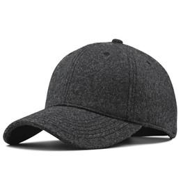 Felt balls wholesale online shopping - Big head Man Winter Fleece Lining Peaked Cap Male Outdoors Plus Size Wool Felt Baseball Hats cm cm