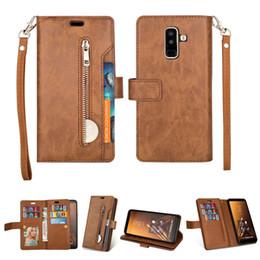 $enCountryForm.capitalKeyWord Australia - Luxury Zipper Flip Wallet for Coque Samsung A6Plus Case Samsung A6 Plus for Samsung Galaxy A7 2018 Case Leather Cover A5 A7 2017