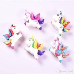 unicorn doll toy UK - Squishy Unicorn Horse Toys Slow Rising Lovely Unicorn Dolls Unicorn Squishy Toy Cartoon Depression Toys Party Props Flying Horse Dolls 100pc