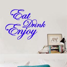 $enCountryForm.capitalKeyWord Australia - Eat Drink Enjoy Vinyl Graphic Wall Art Sticker Cafe Bar Restaurant Kitchen Coffee Shop Wall Art Tattoos