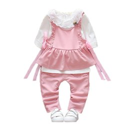 $enCountryForm.capitalKeyWord Australia - 2019 Spring Autumn Girls Clothes Vest Full Sleeve T-shirt Three-piece Cotton Children Clothing Kids Sets Toddler Tracksuits Suit