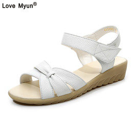 8f62b7617d3d8 Discount white nursing shoes women - Plus size (32-43) flat summer sandals