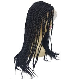 $enCountryForm.capitalKeyWord UK - Long Synthetic Lace Front Wig Black Hair Braided Box Braids wigs for Woman