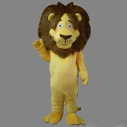 dress lions mascot UK - new Mascot Costume Lion Halloween Christmas Birthday Character Costume Dress Yellow Smile Lion Mascot Free Shipping