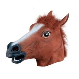 $enCountryForm.capitalKeyWord UK - Realistic Horse Head Masks Full Head Fur Mane Latex Creepy Animal Mask For Halloween Party Costume Props For Drop Shipp