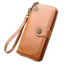 $enCountryForm.capitalKeyWord UK - Vintage Color Wallets High Quality Oil Leather Retro Large Capacity Practical Mobile Phone Bags Wallet Handbag Hand Bag Pouch