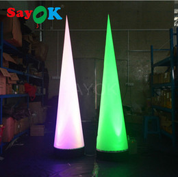 $enCountryForm.capitalKeyWord Australia - Free Shipping Inflatable Cone Inflatable Traffic Cone Wedding Decoration with Colors Changing Lights