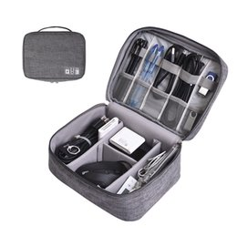 Storage charger online shopping - Cable Organizer Bag Digital Storage Bags Case Zip Cables USB Charger Power Bank Remote Control Pouch Portable Box GGA2667