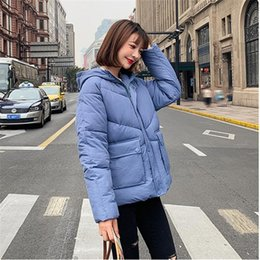 Wholesale ladies short padded jackets resale online – Woman Winter Solid Zippers Hooded Padded Casual Thick Warm Lady Jackets Female Pockets Short Parkas