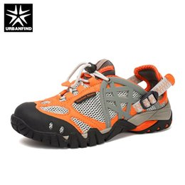 $enCountryForm.capitalKeyWord Australia - URBANFIND Brand Men Summer Mesh Sandals Plus Size 35-47 Unisex Style Male Female Breathable Casual Shoes Beach Water Sandals #56692