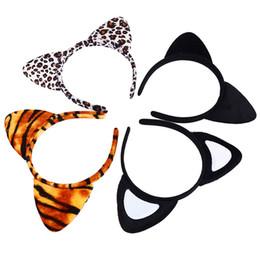 fantastic hair 2019 - Korean Cloth Short Plush Tiger Leopard Cat Ear Headband Cute Women Girls Kids Party Festival Fantastic Hair Accessories