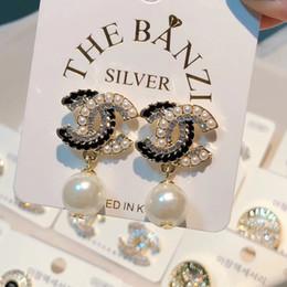 2019 más regalo del amante pendientes pendientes de la manera joyería de diamantes de imitación de aleación de joyería de lujo estilo de moda en venta