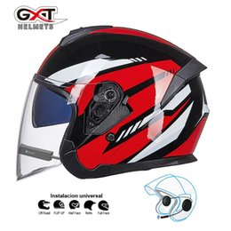 Discount gxt motorcycle helmets - GXT bluetooth Motorcycle Helmet headset Biker Moto Helmet earphone wireless speaker Motorbike Crash Casco with bluetooth