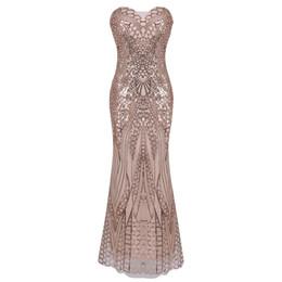 $enCountryForm.capitalKeyWord UK - Ball Longuette Full Dress Sexy Fish Tail Back Bandage Paillette Tube Top Dress Woman