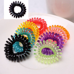 $enCountryForm.capitalKeyWord Australia - Elastic Coil Spiral Hair Bands Telephone Ring Chain 3cm Hair Tie Rope Ring Party Favor Baby Girl Ponytail Holders Hair Accessories Headwear