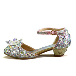 $enCountryForm.capitalKeyWord Australia - Downton handmade baby girls leather shoes with crystals ash shoe au flower girl sparkly shoes for wedding formal occasions as gift size28-36