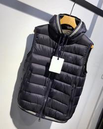 Discount luxury designer l - 2019 New Fashion Fluffy White Duck Down Vest Chopping Mens Designer Jackets Warm High Quality Luxury Hooded Designer Ves