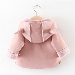 BaBy Boy velvet jacket online shopping - Children Warm Winter Baby Boys Girls Infant Kids Horn Hooded Thicken Velvet Snow Wear Hoodies Parkas Coat Outwear Casaco S9635