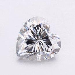 D shapeD jewelry online shopping - Gemstones Heart Shape mm Mossanite Carat D Color For K K K Jewelry Gold Earring Bracelet Engagement Anniversary Gift