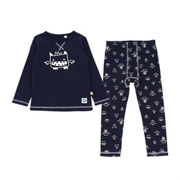 $enCountryForm.capitalKeyWord UK - Boys Thermal Underwear O Neck Tops and Pants Soft Cotton Kids Long Johns Spring Autumn Children Bottoming Sleepwear