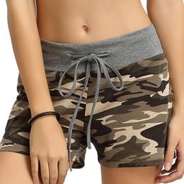 $enCountryForm.capitalKeyWord Australia - Sports Running Shorts Women Gym Short Pants Female Yoga Loose Sport Wear Ladies Elastic Adjustable Flex Camouflage Jogging Suit