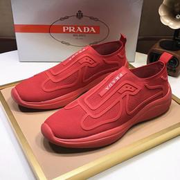 Мужская обувь Мода Luxury Pr @ d Fabric Sneakers Спортивная обувь для мужчин Кроссовки Мягкие удобные кроссовки для мужчин Scarpe da uomo Fast Ship на Распродаже