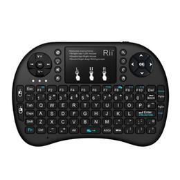 Клавиатура многоцветная подсветка RII i8 2.4 G беспроводные клавиатуры Mini Android TV Box пульт дистанционного управления Air Mouse and keyboard для планшетных ПК smart TV