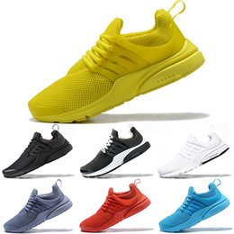 Black Sports Walking Shoes Women Australia - PRESTO 5 Men Women Running Shoes BR QS Triple Black White Yellow Red Grey Blue Walking Shoe Designer Trainer Sport Sneaker Size 36-45