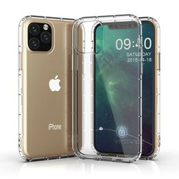 tpu clear ultra thin iphone UK - Clear Soft Silicone TPU Case For iPhone 11 Pro X XS MAX XR 6 6S 7 8 Plus SE 2020 Transparent Airbag Shockproof Ultra Thin Cover