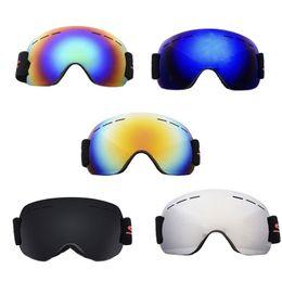 eda16fb3736 Goggles HD UV Lens Spherical Design Three Layer Sponge Pad Anti-Fog UV  Protection Anti-Slip Head Strap Unisex Skiing Eyewear