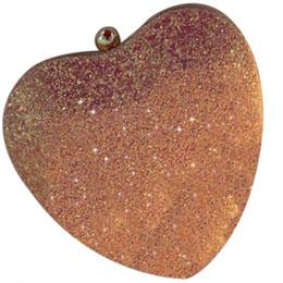 $enCountryForm.capitalKeyWord UK - Bling Heart Shaped Messenger Pu Leather Women C Bag Girl Bling Tote Crossbody Fashion Mini Bag With Gold Chain(Pink)