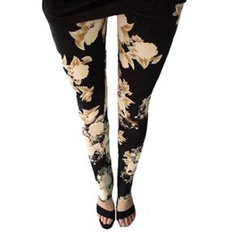 PurPle green gold leggings online shopping - Rose New Printed Leggings Fashion Sexy Women Lady Slim High In Elastic Cotton Pants Multiple Colors Styles Trousers Stock