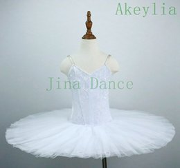 Sans Décoration adulte White Swan Ballet Tutu pratique Pancake TUTU Costumes Robe de danse Loetards filles Sleeping Beauty Dance Performance