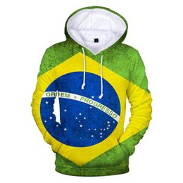 brazil flags NZ - Brazil Flag 3d hoodies pullover men women harajuku Hoodie casual Long Sleeve Hooded Sweatshirt clothes tops plus size XXS-XXXXL