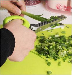 $enCountryForm.capitalKeyWord Australia - 19cm Minced 5 Layers Basil Rosemary Kitchen Scissor Shredded Chopped Scallion Cutter Herb Laver Spices Cook Tool Cut C19042101