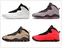 poly powder Canada - 10 Basketball shoe 10s I'm back cool grey infrared fusion red venom Powder Blue men Sports Sneakers 40-47