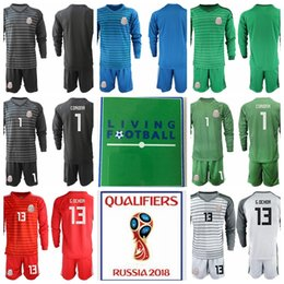 ce2c874478a Goalkeeper Mexico 1 Jose de Jesus Corona Jersey Set Men Soccer 9 BORGETTI 10  BLANCO 13 Guillermo Ochoa GK Football Shirt Kits Uniform