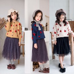 $enCountryForm.capitalKeyWord Canada - Korean Style Cute cherry Sweater for Toddler Girls Teen Tops O-neck Knitted Cardigan Jacket Baby Winter Sweater Coat 2-6 Y