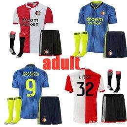 Thailand Shirts Australia - 19 20 Feyenoord adult soccer jersey home AWAY thailand QUALITY 19 20 V.PERSIE BERGHUIS VILHENA JORGENSEN 19 20 FEYENOORD JERSEY ADULT SHIRT