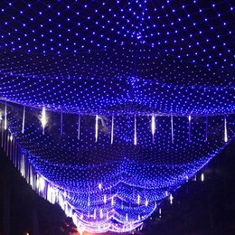Wholesale EMS V V M M LED Net Light Indoor Outdoor Landscape Lighting Christmas Wedding New Year Garland Waterproof LED Light String
