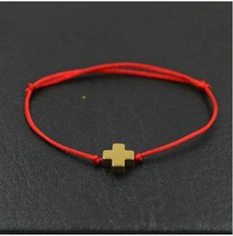 Jesus Cross Accessories NZ - Jesus Believer Cross Bracelets Bangle Adjustable Handmade Braided Red Cord Friendship Lucky Charms Bracelet Jewelry Bohemia Accessories