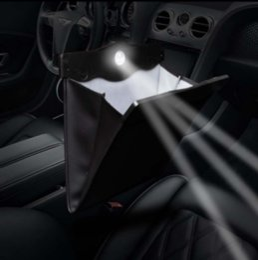 Car Lights Australia - Tidy Auto Car Back Seat Multi Pocket Storage Organizer Holder Bag With Light